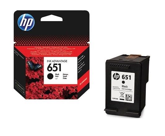 HP 651 sort blækpatron 12ml original HP C2P10AE