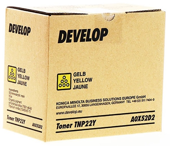 Develop TNP-22Y yellow toner-patron 6.000 sider original A0X52D2